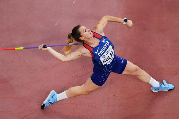 Sara Kolak in the javelin at the IAAF World Athletics Championships Doha 2019 (Getty Images)