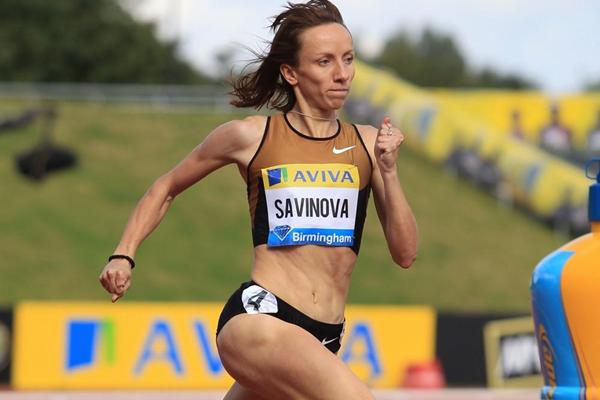 Convincing Birmingham victory for Mariya Savinova in 2:00.40 (Jean-Pierre Durand)