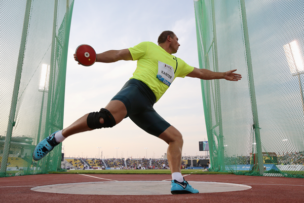 Estonia's Gerd Kanter in action in the discus (Getty Images)