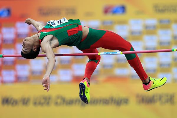 Roberto Vilches in the high jump at the IAAF World U20 Championships Tampere 2018 (Getty Images)