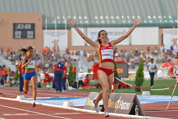 Solid 1500m victory for Nuria Fernandez at the Ibero-American championships (F. Lozano/Ibero-American Games organisers)