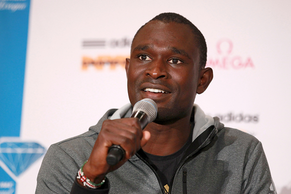 David Rudisha at the press conference ahead of the IAAF Diamond League meeting in New York (Victah Sailer)