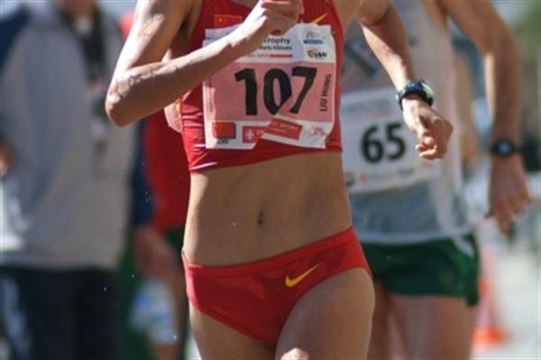 Hong Liu (China) on her way to victory in Lugano (Lorenzo Sampaolo)