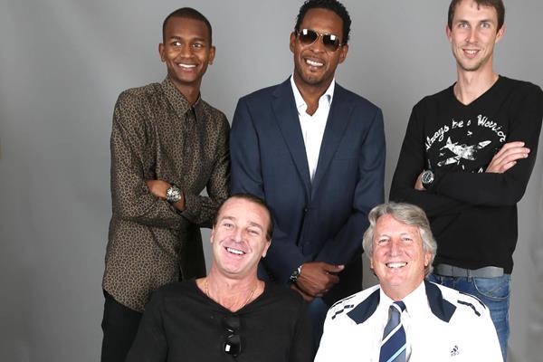 Mutaz Essa Barshim, Patrik Sjoberg, Javier Sotomayor, Dick Fosbury and Bogdan Bondarenko in Monaco (Giancarlo Colombo)