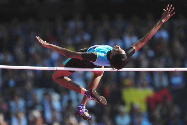High jumper Levern Spencer of St Lucia (Getty Images)