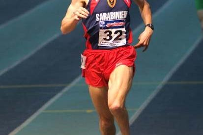 Christian Obrist at the Italian Indoor Championships 2008 in Genova (Lorenzo Sampaolo)