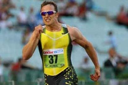 Oscar Pistorius (RSA) competing in Rome - Golden League (Getty Images)