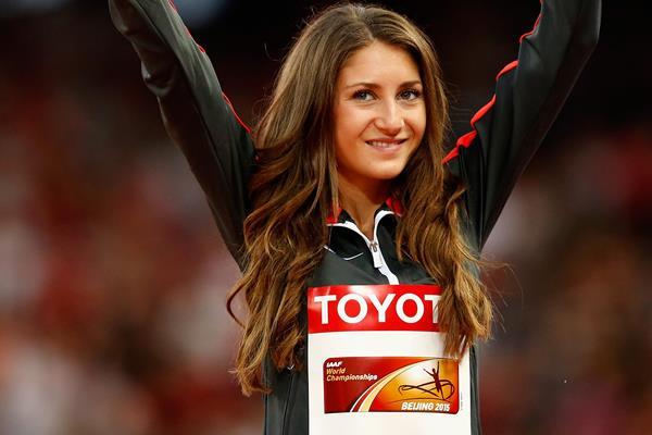 Steeplechase bronze medallist Gesa Felicitas Krause at the IAAF World Championships, Beijing 2015 (Getty Images)