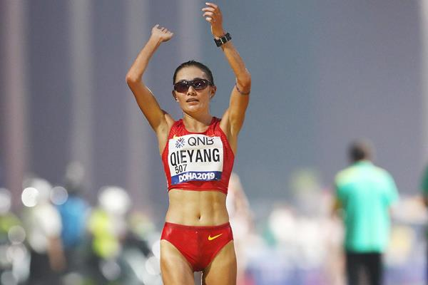 Qieyang Shenjie at the IAAF World Athletics Championships Doha 2019 (Getty Images)