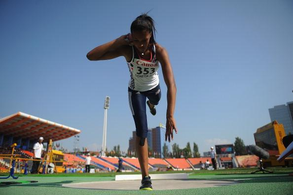 Morgan Lake in the girls Shot Put Heptathlon at the IAAF World Youth Championships 2013 (Getty Images)