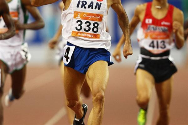 Iran's Sajad Moradi, the Asian Games 800m champion (Getty Images)