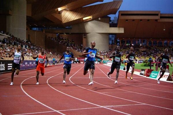 Asafa Powell wins in Monaco in a 9.82sec meet record (Nicolas Cicciarello)