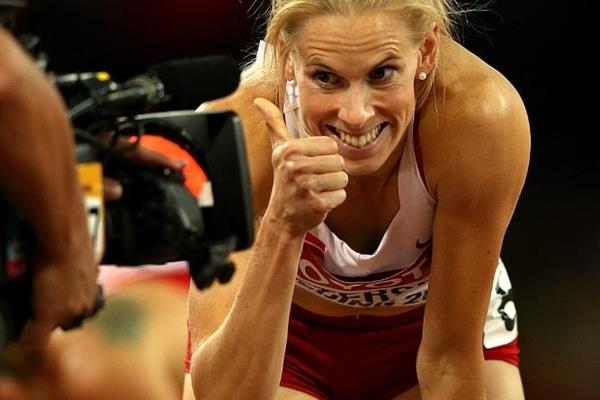 Sara Petersen after the 400m hurdles semi-finals at the IAAF World Championships, Beijing 2015 (Getty Images)
