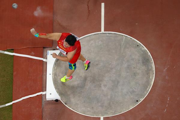 Gong Lijiao in action at the IAAF World Athletics Championships Doha 2019 (Getty Images)