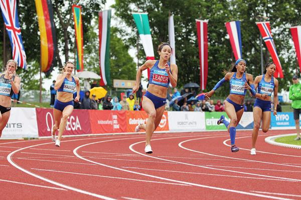Katarina Johnson-Thompson in the heptathlon 200m at the Hypomeeting in Gotzis (Jean-Pierre Durand)