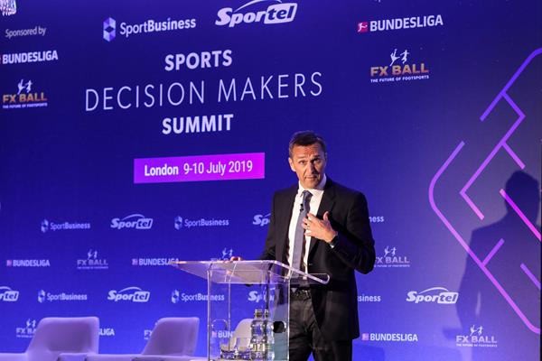 IAAF CEO Jon Ridgeon addressing the Sports Decision Makers Summit in London (Organisers)