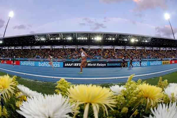 Action from the women's 4x100m at the IAAF/BTC World Relays Bahamas 2015 (Getty Images)