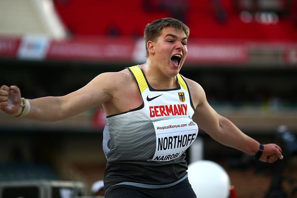 Timo Northoff in the shot put at the IAAF World U18 Championships Nairobi 2017 (Getty Images)