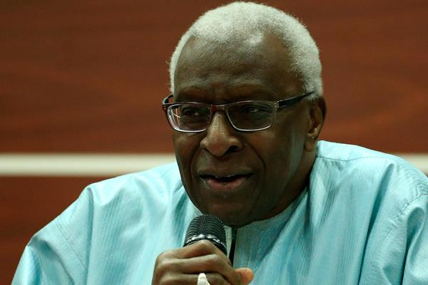 IAAF President Lamine Diack giving the opening address at the 2nd IAAF World Youth Coaches Conference in Cali (Getty Images)