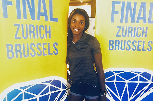 Caterine Ibarguen in Zurich ahead of the two IAAF Diamond League finals (Instagram/@triplecibarguen)