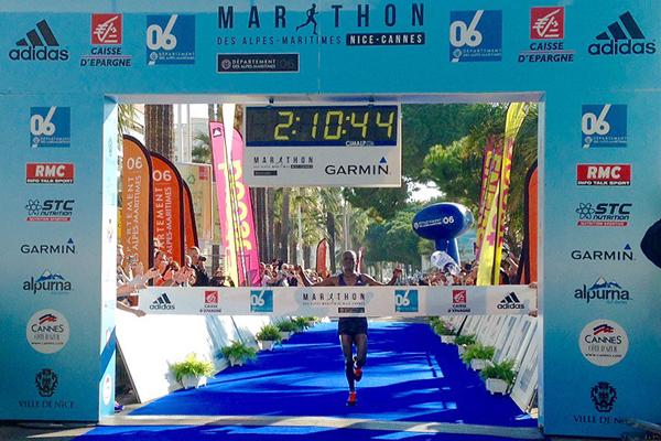 Barnabas Kiptum wins the Marathon des Alpes-Maritimes (Organisers)