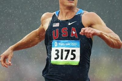 Trey Hardee of the USA competes in the decathlon 100m (Getty Images)