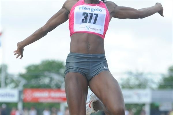 Funmi Jimoh jumping to victory in Hengelo (organisers)