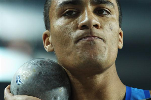 Ashton Eaton of the United States competes in the Men's Shot Put in the Heptathlon during day one - WIC Istanbul (Getty Images)