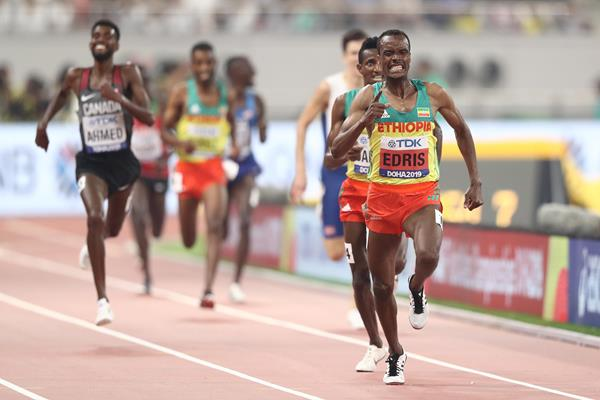 Muktar Edris wins the 5000m at the IAAF World Athletics Championships Doha 2019 (Getty Images)