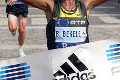 Ethiopian Bizunesh Bekele takes Lisbon win (LUIS LOPES/Maratona Clube de Portugal)