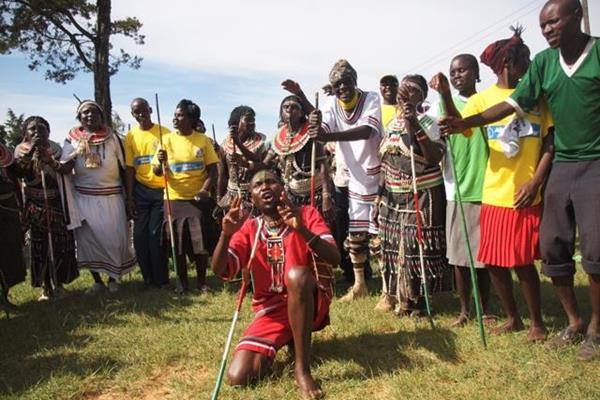 Dancing and celebrations at the Tegla Loroupe Peace Race (TLPF)