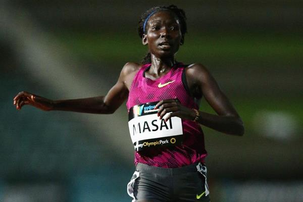Kenya's Magdalene Masai wins the 3000m steeplechase (Getty Images)
