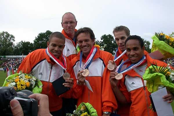 The Netherlands' World Championships 4 x 100m bronze medal team (c)