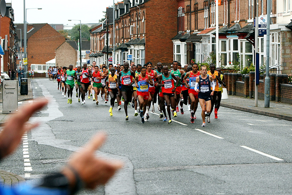 The men's race at the 2009 IAAF World Half Marathon Championships in Birmingham (Getty Images)