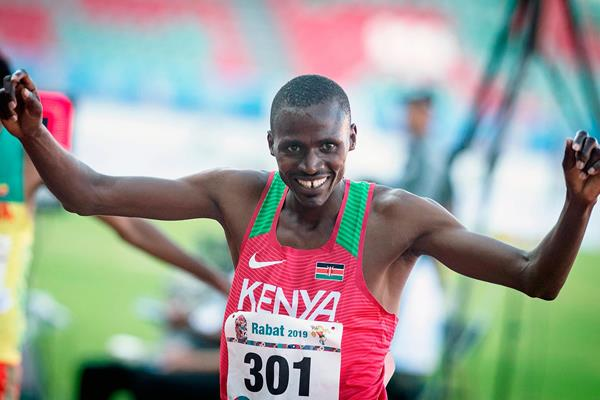 Benjamin Kigen wins the steeplechase at the African Games (AFP / Getty Images)