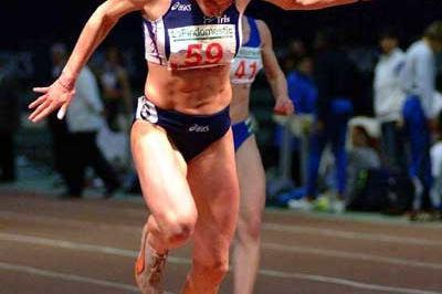 Manuela Levorato at the Italian indoor championships (Lorenzo Sampaolo)