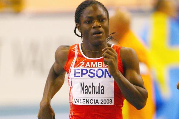 Zambia's Rachel Nachula misses out on the final of the women's 400m, but sets a national record of 53.30. (Getty Images)