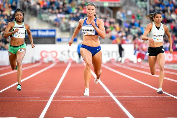 200m winner Dafne Schippers at the IAAF Diamond League meeting in Oslo (Deca Text & Bild)