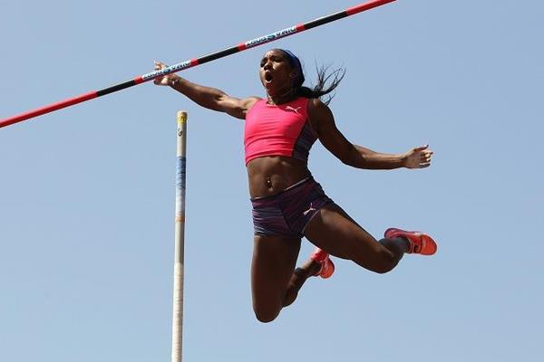 Yarisley Silva at the IAAF Diamond League meeting in Birmingham (Jean-Pierre Durand)