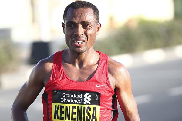 Kenenisa Bekele in action at the Dubai Marathon (Organisers)