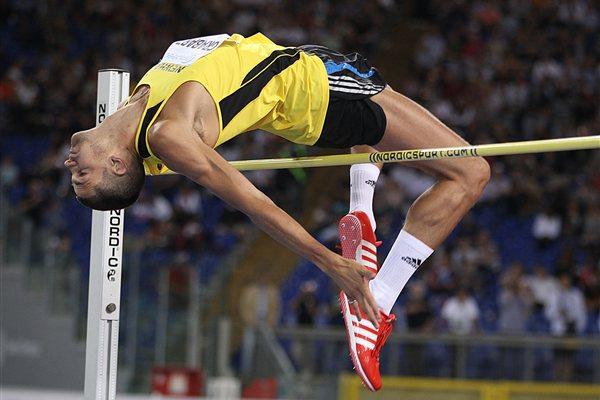 Robbie Grabarz improves to 2.33m in Rome (Giancarlo Colombo)