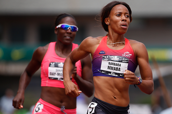 Barbara Nwaba leads the heptathlon 800m at the US Championships (Getty Images)