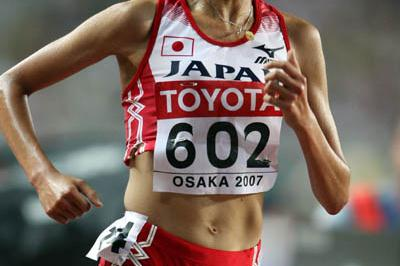 Kayoko Fukushi of Japan in action in the 5000m (Getty Images)