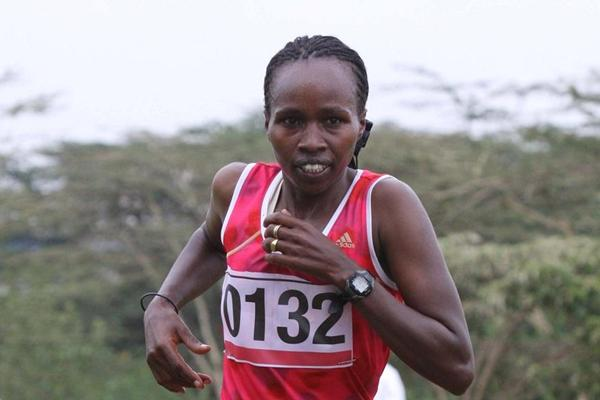 Emily Samoei wins at Kenya's 2013 Administrative Police Cross Country Championships (Stafford Ondego - The Standard)