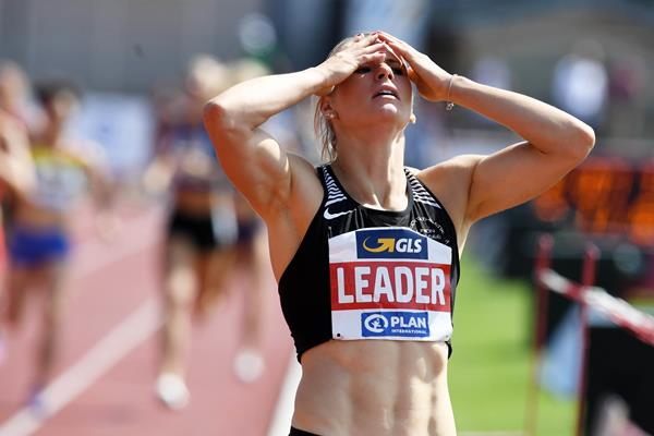 Verena Preiner after the heptathlon 800m in Ratingen (Gladys Chai von der Laage)
