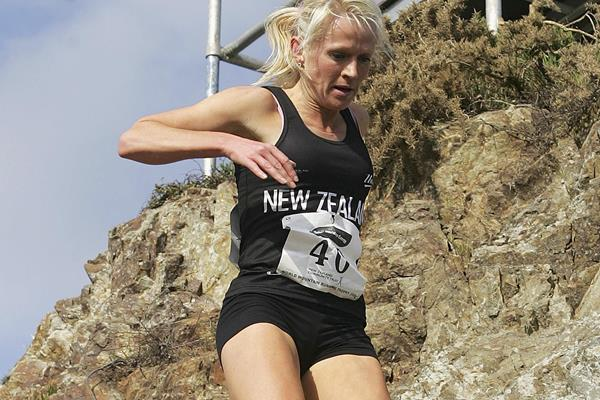 Melissa Moon at the 2005 World Mountain Running Championships (Getty Images)