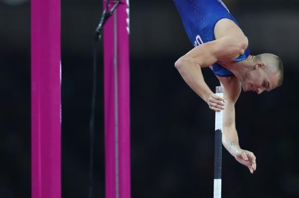 Sam Kendricks in the pole vault at the IAAF World Championships London 2017 (Getty Images)