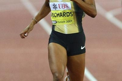 Sanya Richards wins bigs again in Zurich (Bongarts)