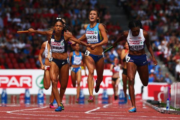 Floria Guei anchors France to gold in the 4x400m (Getty Images)