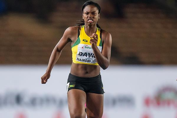 Kevona Davis in the 100m at the IAAF World U18 Championships Nairobi 2017 (Getty Images)